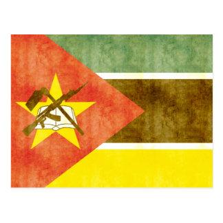 Cartão Postal Bandeira retro de Mozambique do vintage