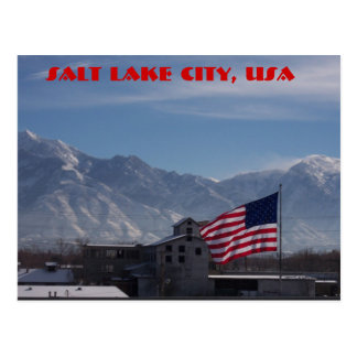 Cartão Postal bandeira, Salt Lake City, EUA