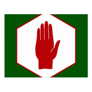Cartão Postal Bandeira unida do emblema de Irlanda do Norte