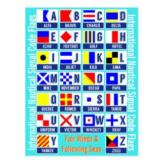 Cartão Postal Bandeiras de código náuticas internacionais do