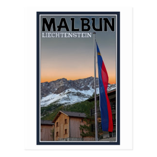 Cartão Postal Bandeiras de Malbun