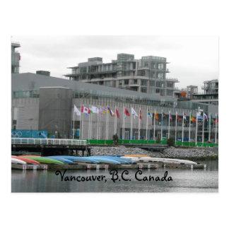 Cartão Postal Bandeiras e canoas do vôo