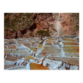 Cartão Postal Bandejas de sal de Maras, Peru