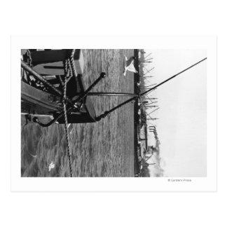 Cartão Postal Bandon, opinião do porto de Oregon e fotografia