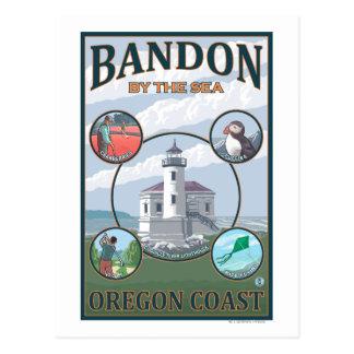 Cartão Postal Bandon, poster de viagens de OregonScenic