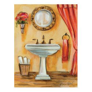 Cartão Postal Banheiro contemporâneo acolhedor