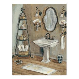 Cartão Postal Banheiro francês com espelho e dissipador