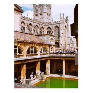 Cartão Postal Banho, banhos romanos e abadia do banho