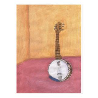 Cartão Postal Banjo-em-um-room