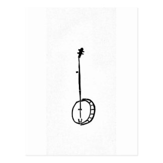 Cartão Postal Banjo preto no branco