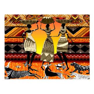 Cartão Postal Banquete africano