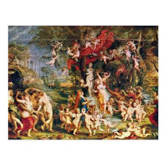 Cartão Postal Banquete de Venus por Rubens Peter Paul (a melhor