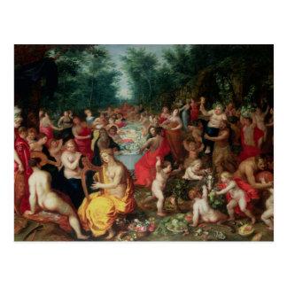 Cartão Postal Banquete dos deuses