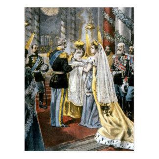 Cartão Postal Baptismo da grã-duquesa Tatiana, filha de