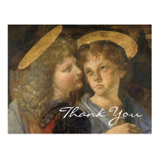 Cartão Postal Baptismo do cristo (anjos) por Leonardo da Vinci