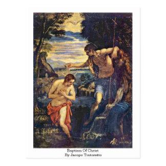 Cartão Postal Baptismo do cristo por Jacopo Tintoretto