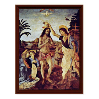 Cartão Postal Baptismo do cristo por Sarto Andrea Del