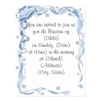 Cartão Postal Baptismo Invitiation