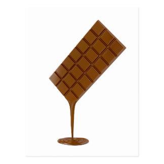 Cartão Postal Bar de chocolate derretido
