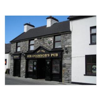 Cartão Postal Bar do GUS O'Connor em Doolin Ireland