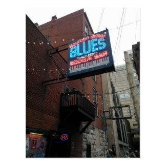 Cartão Postal Bar Nashville TN da dança dos azuis da rua de