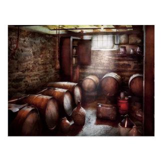 Cartão Postal Bar - vinho - a adega de vinho