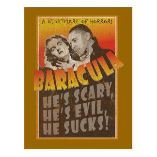 Cartão Postal Baracula - cartaz cinematográfico de Barack Obama