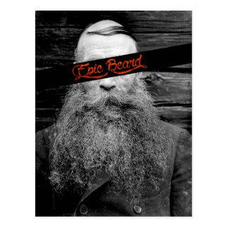 Cartão Postal Barba épico