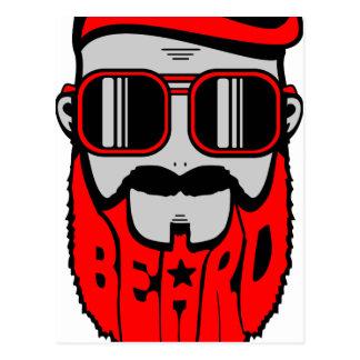 Cartão Postal barba vermelha