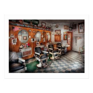 Cartão Postal Barbeiro - barbeiros de Frenchtown