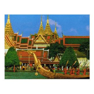 Cartão Postal Barca real de Tailândia, Banguecoque