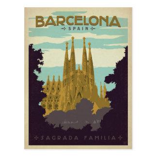 Cartão Postal Barcelona, espanha - Sagrada Familia