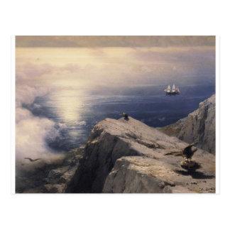 Cartão Postal Barco da água do vintage de Ivan Aivazovsky que
