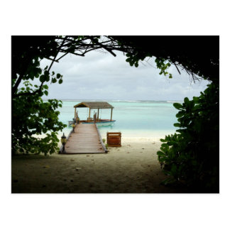 Cartão Postal Barco da ilha de Maldives
