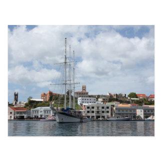 Cartão Postal Barco de navigação em Grenada