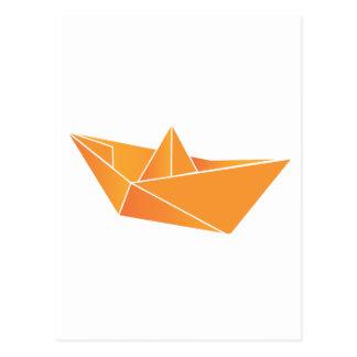 Cartão Postal Barco de Origami