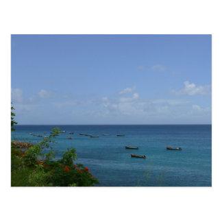 Cartão Postal Barco de Pêcheurs - Martinica, FWI