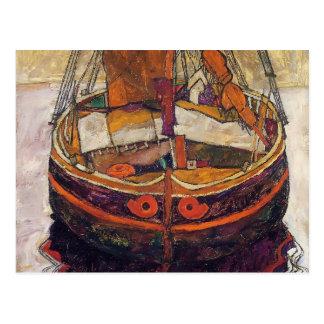 Cartão Postal Barco de pesca de Egon Schiele- Trieste