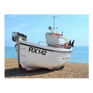 Cartão Postal Barco de pesca Hastings