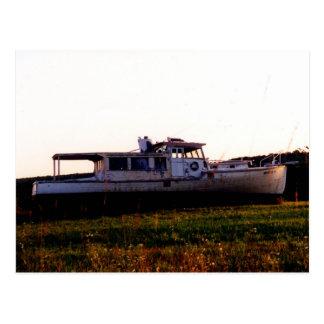 Cartão Postal Barco de pesca velho de Maine