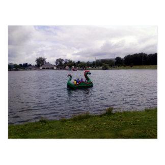 Cartão Postal Barco do dragão do parque de Eldridge em Elmira,