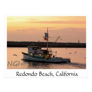 Cartão Postal Barco do reboque de Redondo Beach, Califórnia