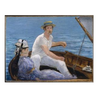 Cartão Postal Barco - Edouard Manet