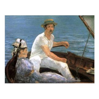 Cartão Postal Barco por belas artes de Edouard Manet