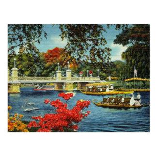 Cartão Postal Barcos da cisne de Boston