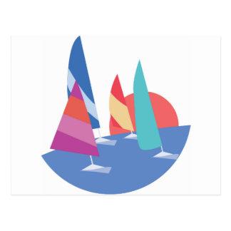 Cartão Postal Barcos de navigação