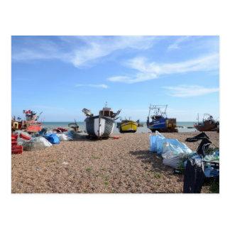 Cartão Postal Barcos de pesca de Hastings