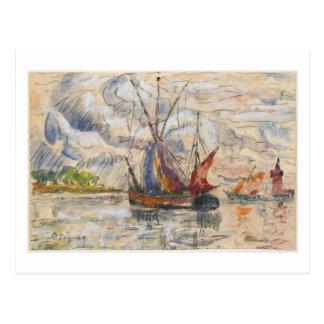 Cartão Postal Barcos de pesca em La Rochelle, c.1919-21