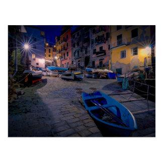 Cartão Postal Barcos de pesca em Riomaggiore, Cinque Terre,