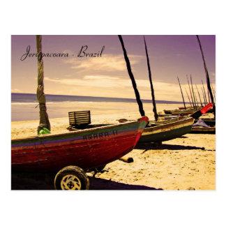 Cartão Postal Barcos dos peixes - Jericoacoara, Brasil